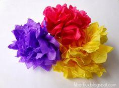 Flores con papel de seda 1