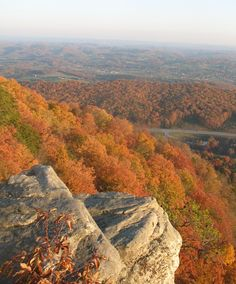 View from the top of the Cumberland Gap -- looking southeast into virginia and tennessee -- powell valley
