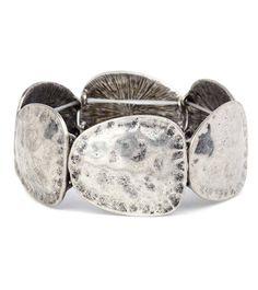 Flat Disk Bracelet Matte Silver.  Item #PB0106SO Available at Impulse Gifts 812.481.2880 We ship daily.   https://www.facebook.com/ImpulseJasper