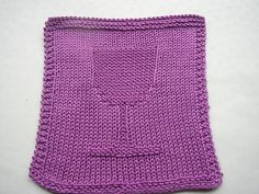 Previously available at Purple Duckie. The pattern is no longer available. Dishcloth Knitting Patterns, Knit Dishcloth, Knitting Stitches, Knit Patterns, Free Knitting, Clothing Patterns, Baby Knitting, Stitch Patterns, Yarn Projects
