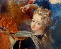 Nicolas de Largillière Paris, 1656 – Paris, 1746 Portrait de Madame Jassaud et ses deux enfants (détail de)  Huile sur toile  Don Lennel, 1922