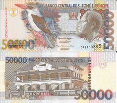 ST TOMÉ PRINCIPE - CÉDULA DE 50000 DOBRAS ANO 2004 - PEÇA EM ESTADO DE…