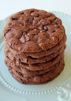flourless chocolate-chocolate chip cookies