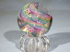 Marbles: Hand Made Art Glass James Alloway Dichroic Cane Marble inch Art Of Glass, Glass Artwork, Marble Board, Glass Marbles, Glass Paperweights, Drawing, Art Forms, Artsy Fartsy, All Art