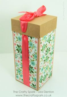 "Beautiful Tall Gift Box for Glass or Ceramic Gift - 12"" Cardstock, Birth..."