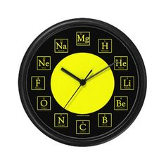 Does it make me a nerd that i understand this periodic table of elements clock