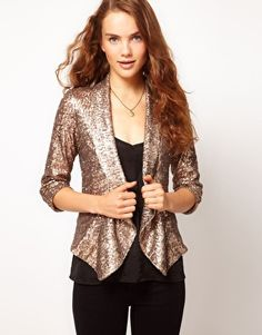 A Wear Sequin Drape Jacket