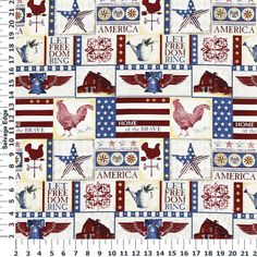 AMERICANA by M'Liss fabric collection is available! It is on SALE at Hancock Fabrics Stores & on-line at the M'Liss Boutique http://hancockfabrics.com/m-liss-boutique#prefn1=collection&prefv1=Americana