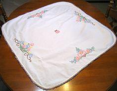 Vintage mantel mantel de lino mantel del por NormasTreasures
