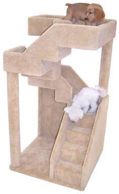 Cat Staircase Tower, the dogs don't really like it ! Cat Climbing Tree, Cat Gym, Diy Cat Tree, Dog Tree, Pekinese, Cat Towers, Cat Condo, Pet Furniture, Cat Crafts