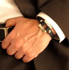 GPS Coordinate Bracelet. Latitude Longitude Mens Wristband. Anniversary Gift #NadinArtDesign #IDIdentification