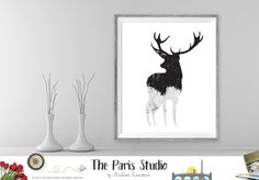 Instant Download Digital Art: Deer #miniamalist wall art home decor printables
