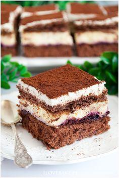 Cake Bars, Calzone, Fancy Cakes, Tiramisu, Cooking Recipes, Cooking Ideas, Food Ideas, Oreo, Cheesecake