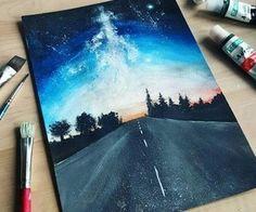 Ideas For Eye Artwork Draw Concept Art - Acrylic art - Cute Canvas Paintings, Canvas Art, Tree Paintings, Mini Toile, Eyes Artwork, Galaxy Art, Pastel Art, Pastel Drawing, Painting & Drawing