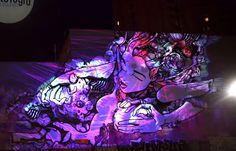 Graffiti Mapped, c'est le dernier projet un peu fou du street artiste Sofles, mélange entre graffiti et mapping vidéo….