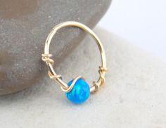 Opaal kraakbeen oorbel helix earring tragus door sofisjewelryshop