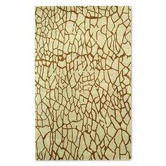 Soho Crackle Print Wool Area Rug