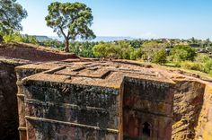 The Church of St. George in Lalibela, Ethiopia, was carved out of a single stone in the 12th century.