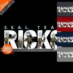 Unisex/Mens: S.E.A.L. Team Ricks Shirt / Rick Sanchez Tee /
