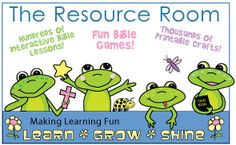 The Resource Room - Hundreds of Bible Lessons, Bible Crafts, and Bible Games on www.daniellesplace.com