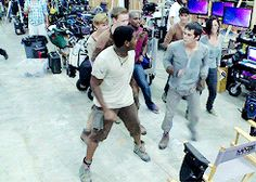 Maze Runner cast dancing :) gif I Saw Newt in the background but where's Minho?