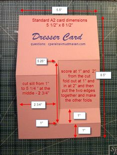 Side step card template