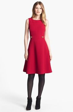 Tahari Fit & Flare Dress (Regular Sizes Online Only) available at #Nordstrom // I'm usually the only one wearing dresses in my town during fall/winter, but with options like these - can you really blame me?