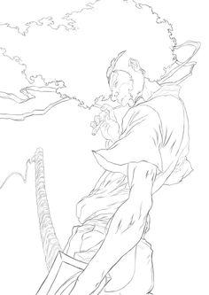 Afro Samurai , Tshegofatso Matsetela on ArtStation at https://www.artstation.com/artwork/Al8lm