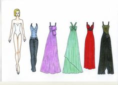 My author paper doll (the young girl) Alice she has 255 of outfits on 38 sheets of A-4 format