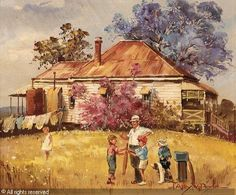 D'Arcy Doyle - First red to bat Australian Painting, Australian Artists, Pictures Of Insects, Pen And Wash, Art Area, Art World, All Art, Art History, Landscape Paintings