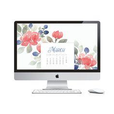 March 2017 desktop calendar - Free desktop background.