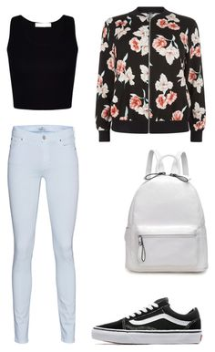 """Untitled #38"" by simplyrosa on Polyvore featuring 7 For All Mankind, New Look and Vans"