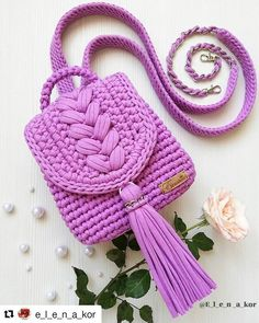 👉👉 @ e_l_e_n_a_kor 💕💕👈👈 ・ ・ ・ Hallo Freunde.P … – Stricken sie Baby Kleidung Source by christinatrltzsch de croche fio de malha infantil Crochet Backpack Pattern, Crochet Clutch, Crochet Handbags, Crochet Purses, Tunisian Crochet, Crochet Stitches, Knit Crochet, Crochet Patterns, Easy Crochet