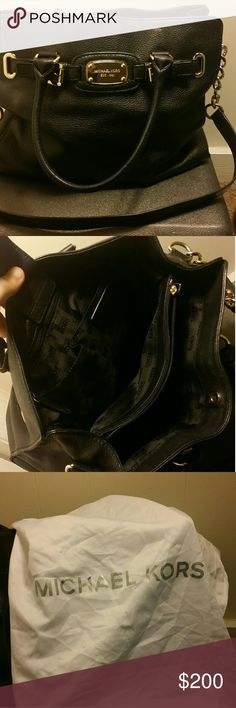 Michael Kors Hamilton Purse Large Black Leather. Gently used. Comes with dust bag and authenticity care card. Michael Kors Bags Satchels