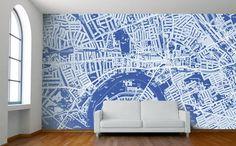 Custom Map Wallpaper | Brit + Co