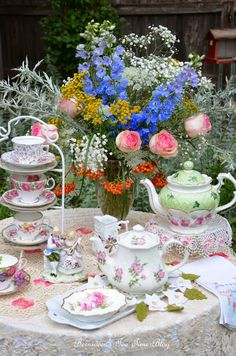 "Bernideen's Tea Time Blog: LACE IN THE GARDEN for ""Tea In The Garden"""