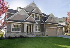 House exterior design stone siding colors 65 ideas for 2019 Exterior Siding Colors, Exterior House Siding, Exterior Design, Grey Exterior, Hardie Board Siding, Gray Siding, Siding Colors For Houses, Grey Siding House, Stone Exterior Houses