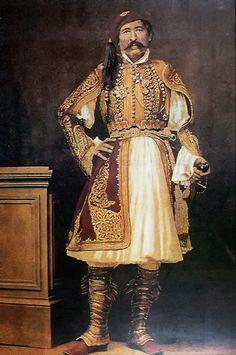 Φίλιππος Μαργαρίτης. Ο στρατηγός Χριστόδουλος Χατζηπέτρος (1799-1869). Χρωματισμένη αλμπουμίνα από τον φωτογράφο, π. 1865. Ο Χατζηπέτρος ήταν γνωστός αγωνιστής του 1821 και μέλος της Φιλικής Εταιρείας. Εθνική Πινακοθήκη. Πηγή: facebook/Η ΑΘΗΝΑ ΜΕΣΑ ΣΤΟ ΧΡΟΝΟ Men's Costumes, Folk Costume, Ancient Greek Costumes, Greek Independence, Greek Traditional Dress, Military Uniforms, Embroidery Fashion, World Cultures, Crete