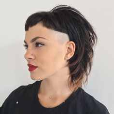 Cut and style on @deenajakoub from @veridia Great to meet you!!! styled with  @randcohair #randco #hairbrained #texture #americansalon #hairbybrianhickman #undercut #eastnashville #nashville #barber #barbershopconnect  #modersalon #behindthechair #beautylaunchpad #undercut #localhoneynashville  #pixiecut #bowlcut #veridia