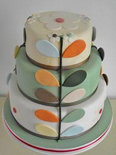 Orla Kiely inspired cake …