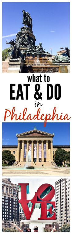 What to See, Eat, and do in Philadelphia. A perfect Philadelphia restaurant and travel guide!