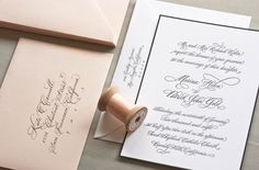 Like the black trim, thick stock and blush envelope.