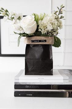 DIY Paper Bag Bouquets