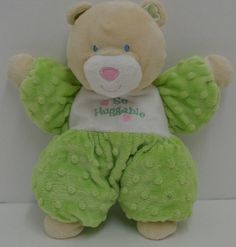 "Kids Preferred So Huggable Bear Plush Green & White Stuffed Minky Dots Lovey 12"" #KidsPreferred http://stores.ebay.com/Lost-Loves-Toy-Chest/_i.html?image2.x=26&image2.y=14&_nkw=kids+preferred"