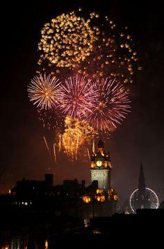 Fireworks, Hogmanay in Edinburgh