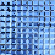 Blue glass mosaic tile backsplash pyramid 3d shower wall tiles design seamless crystal glass cheap tiles for kitchen CGT919