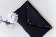 ISABO' BORSE IN STOFFA pochette ecopelle + borchie