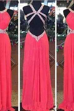 Red Sexy Prom Dress High Halter Party Gowns Beaded Homecoming Dresses