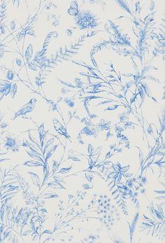 Fern Toile Bluebell wallpaper by Ralph Lauren