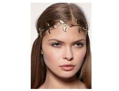 Rouelle EDEN Headpiece: Gold Leaf Grecian Headband, head piece, hair chain, hair piece, head chain